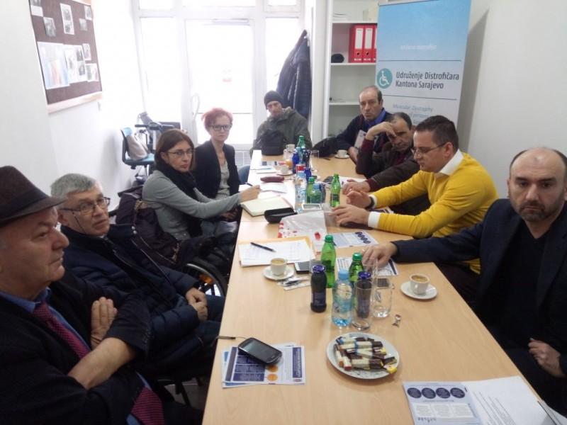 Sjednica Koordinacionog odbora udruženja osoba sa invaliditetom KS